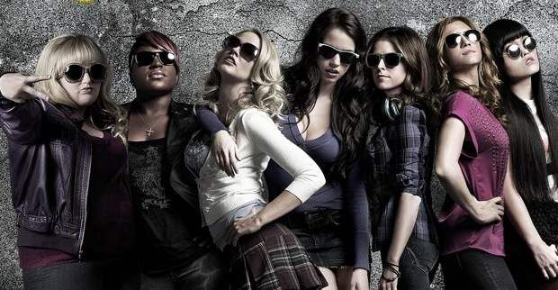 Pitch Perfect  Anna Kendrick, Rebel Wilson.  Say hello to the real gleeks! Love the songs. Love Rebel Wilson!  My rating: 8/10