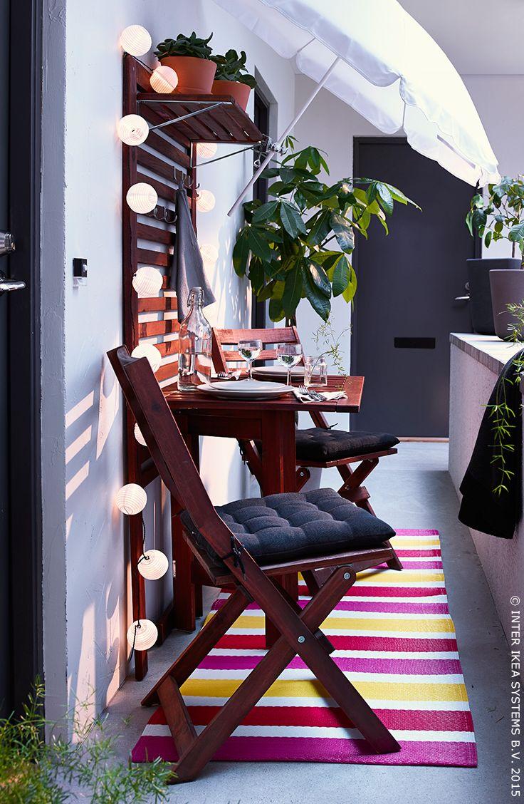 Soirée d'été romantique #IKEA #terrasse #été #balcon
