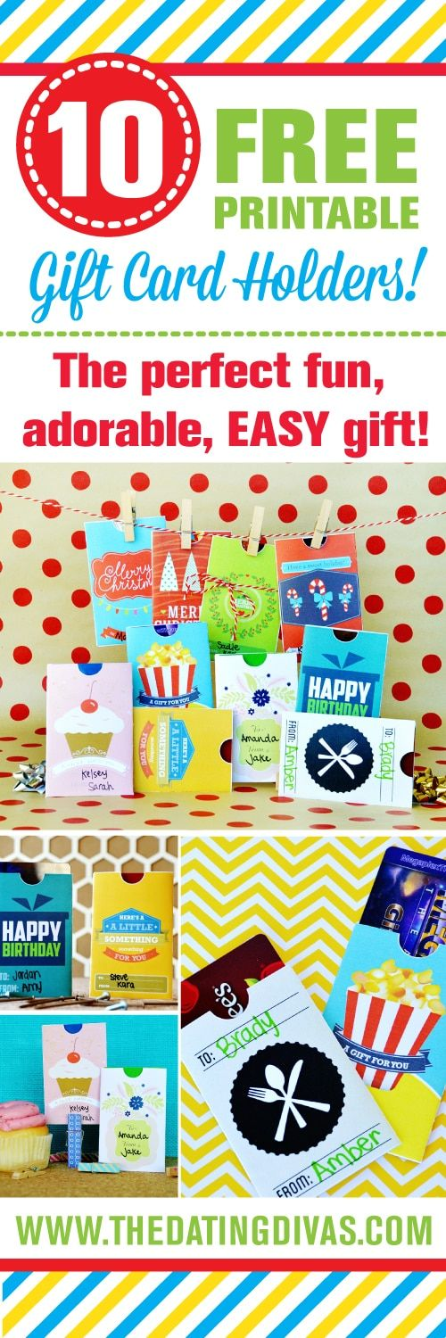 DIY Free Gift Card Envelopes for Christmas, birthdays and more!