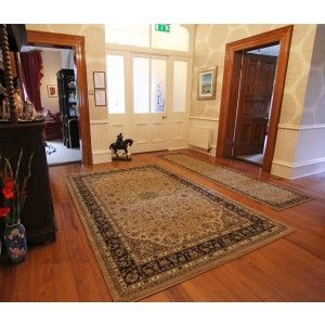 Beige Traditional Rug in Hall Runner and standard rectangle rug