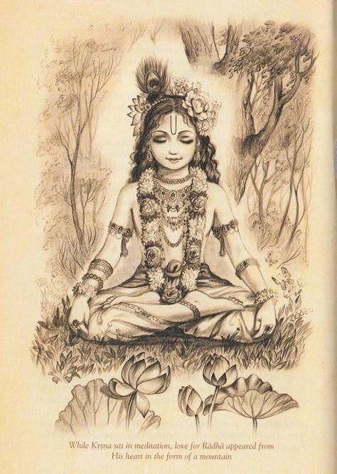 Krishna meditates                                                                                                                                                                                 Mais
