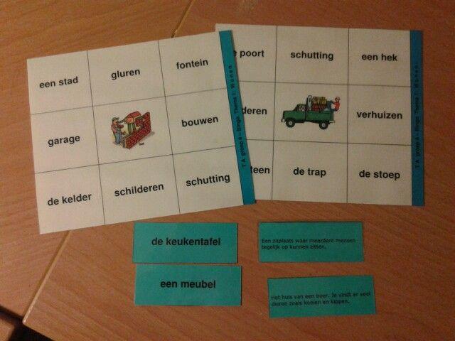 Woordenschat bingo taal actief groep 4. Te downloaden van digischool.