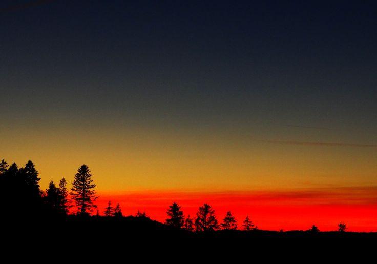 Des couleurs extrêmes pour ce coucher de soleil. Les Praises, jan 2015