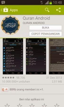 Download Aplikasi Al Quran Android Digital Terbaik sekarang juga dengan meng-klik gambar di atas.  http://infonewbi.blogspot.com/2014/02/download-aplikasi-al-quran-android.html