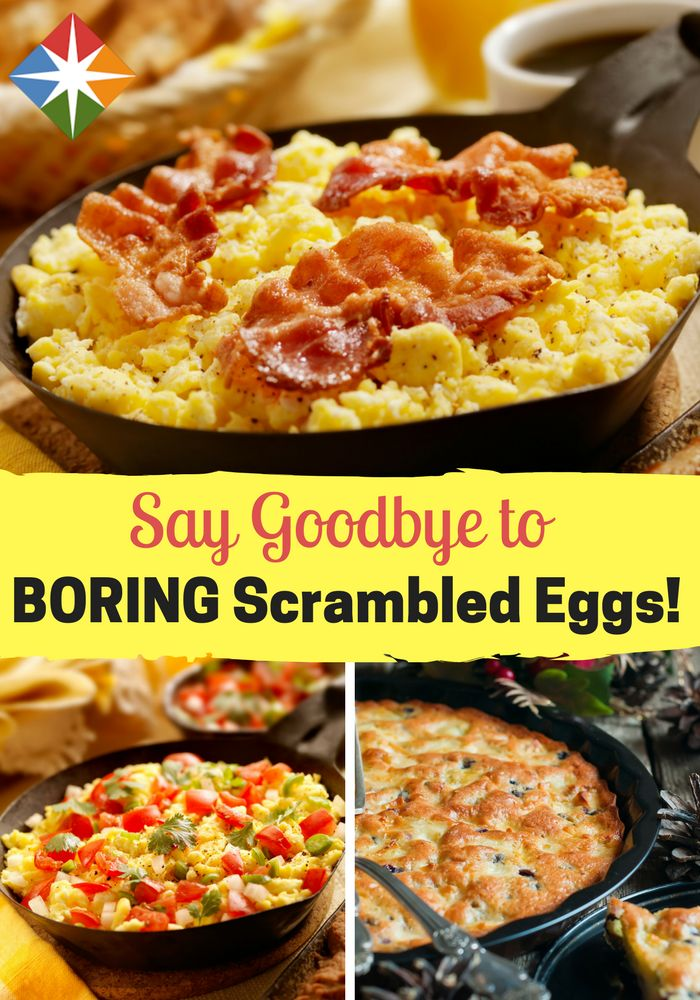 You can make scrambled eggs more exciting--start tomorrow at breakfast time. Let us know what you think of these egg-cellent ideas.