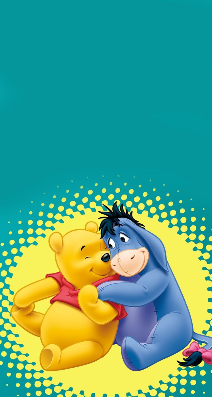 Friends Wallpaper Disney Minimalist Cell Phone Wallpapers Eeyore Pooh Bear Babies Winnie The Wednesday
