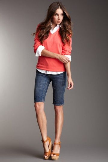 preppy look can be super cute! | My Style | Bermuda shorts ...