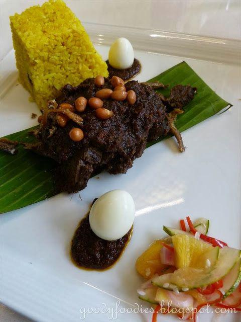Wagyu Beef Cheek Rendang, Farm Vegetables, Achar Jelatah, Turmeric Coconut Rice