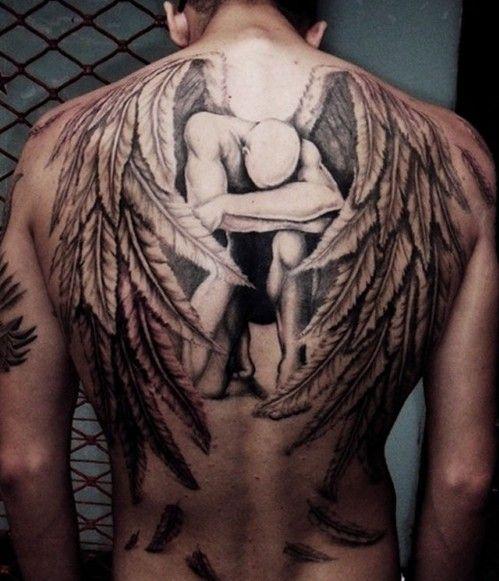 Wings Back Tattoos For Men
