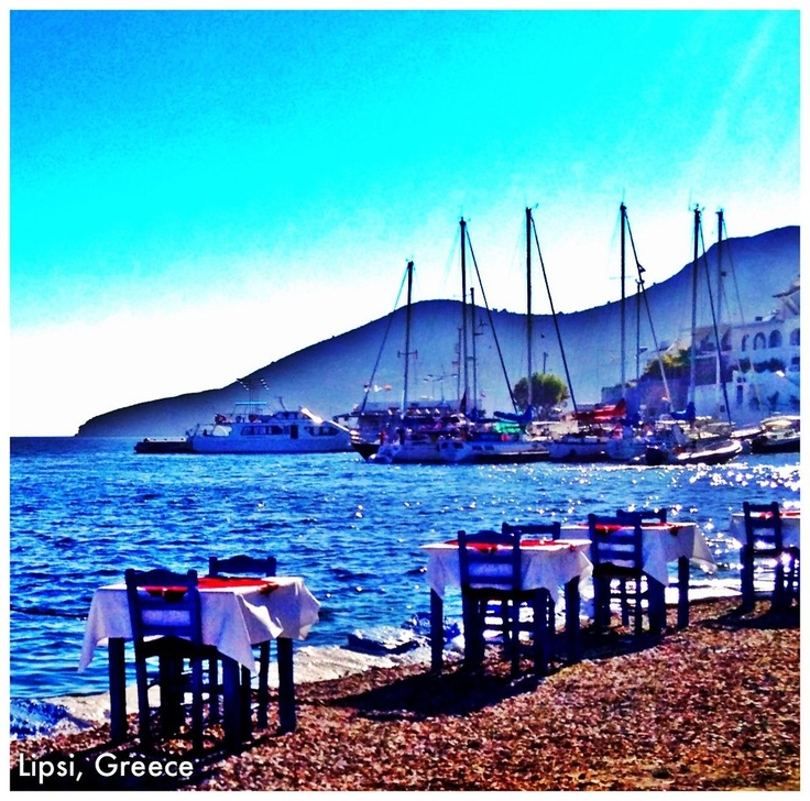 Eating on the Sea in Lipsi, Greece
