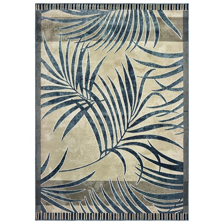 United Weavers Panama Jack Original Palm Blueberry 7 ft