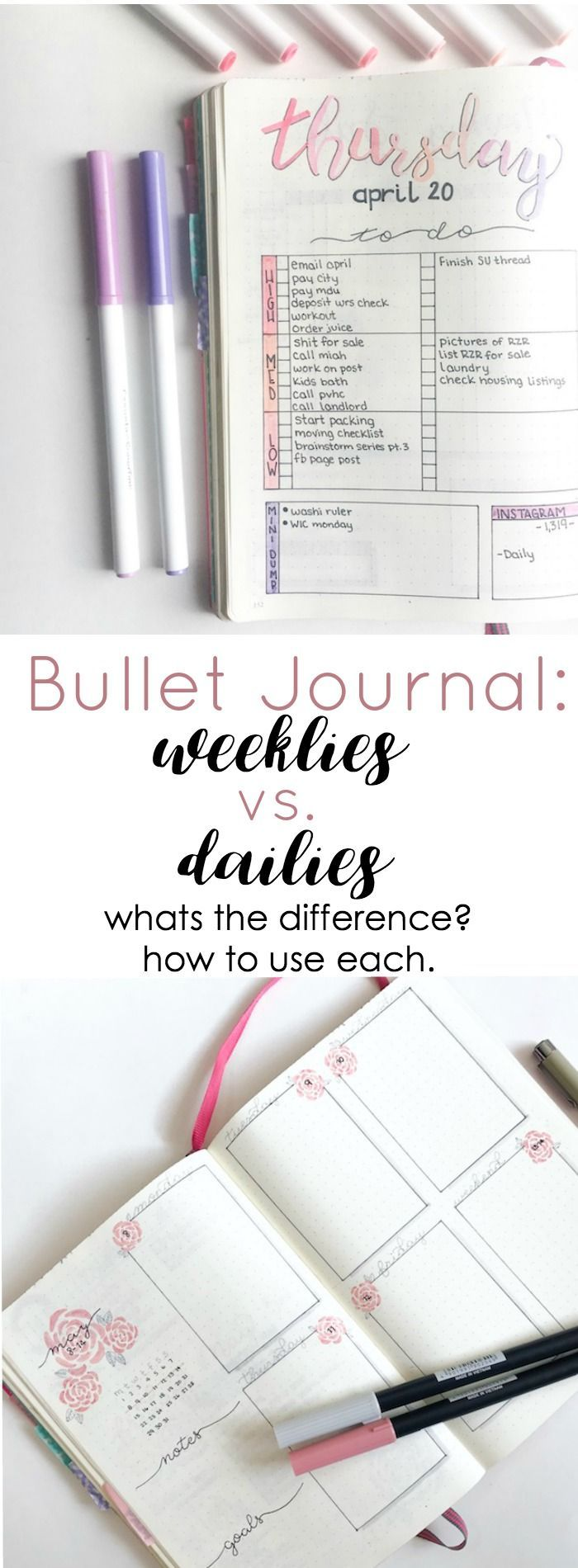 1187 Best Organization Bullet Journal Images On Pinterest