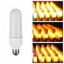 E27 LED Flame Flicker Lamp Bulb Fire Effect 99SMD 6W Party Decor