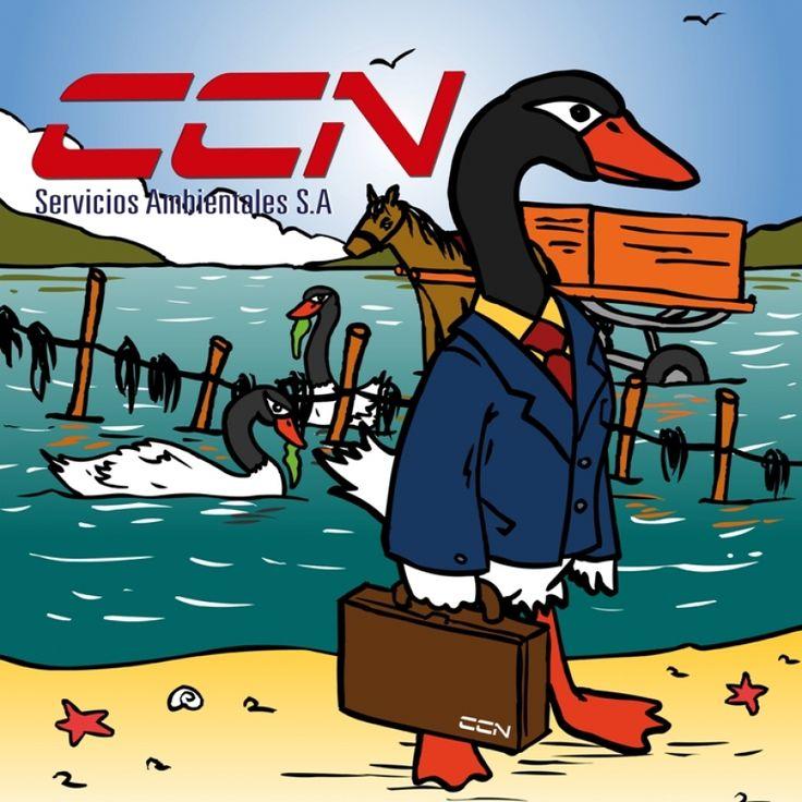"""CCN servicios ambientales"", guión e ilustración Walter Velásquez, asesoría científica Mg. Jaime Cursach."