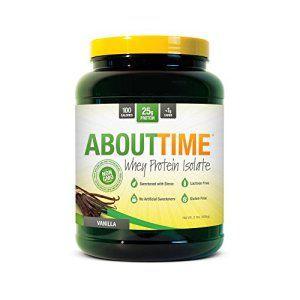 About Time – Protéine Whey Isolate Gateau D'Anniverssaire – 907 Gr Vanille