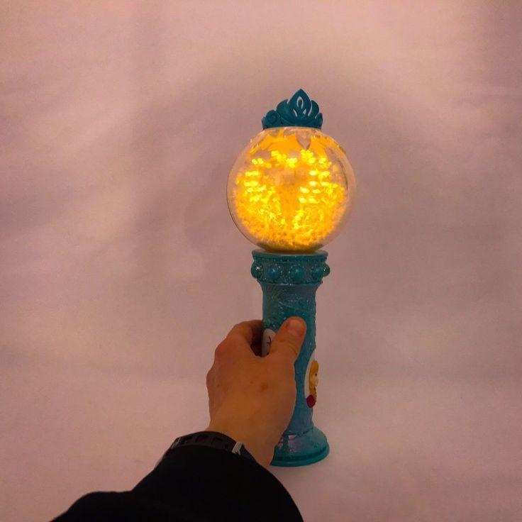 Disney Frozen Elsa Musical Snow Globe Magic Wand Plays Let It Go Toy Princess #Disney