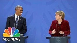 At Final Press Conference Angela Merkel Calls President Obama My Partner And Friend   NBC News