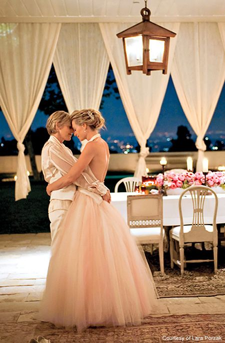 Ellen portia s wedding album justin timberlake for Portia de rossi wedding dress