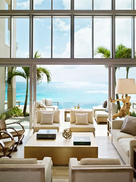 Villa living roomBeach House, West Indie, Dreams, The View, Interiors Design, Living Room, Kelly Wearstler, Viceroy Anguilla, Hotels