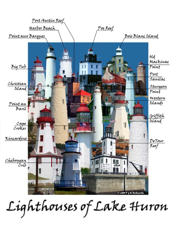 Image detail for -Lighthouses of Lake Huron (Canada and US)