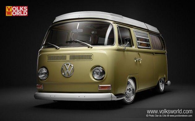 1971 Bay Window Westfalia  VolksWorld  Veedubs  Volkswagen bus camper Volkswagen bus Kombi