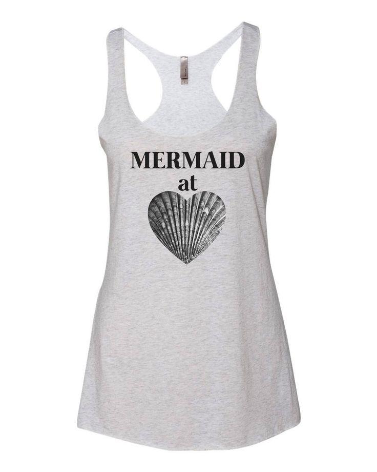 Mermaid At Heart Beach Summer Tank Top
