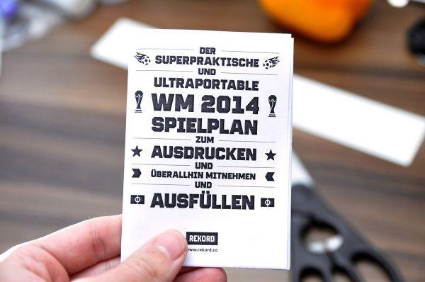 WM 2014 Spielplan in hübsch ;)