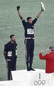 John Carlos, Tommie Smith, Peter Norman 1968cr - 1968 Olympics Black Power salute - Wikipedia, the free encyclopedia