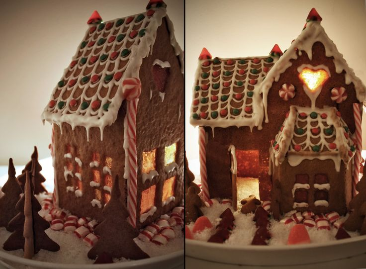It is fun tomake your own gingerbread house.      photo: overonecoffee.com      photo: overonecoffee.com   The windows are made with sweet...