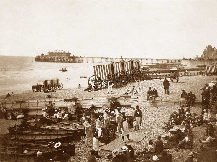 Sussex, Brighton, Entertainers on the Beach circa 1890's