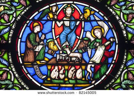 Paris - Windowpane From Saint Denis Gothic Church - Jesus And Four ...