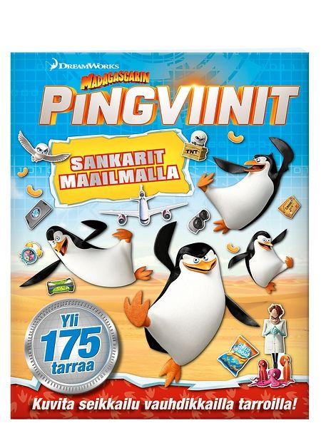 Madagascarin pingviinit, Sankarit maailmalla -tarrakirjan sivuilla sympaattiset sankarit viilettävät suurkaupungin sykkeessä, hyppivät pomppulinnassa ja seilaavat merellä. Herätä tarina eloon liimaamalla aukeamille vauhdikkaita tarroja!