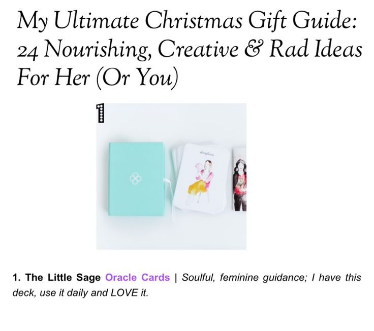 We're so humbled and grateful our oracle cards were featured on @thisislifeblood's Ultimate Christmas Gift Guide - thank you! Shop our cards here: http://shop.thelittlesage.com/the-little-sage-oracle-cards Read more here: http://thisislifeblood.com/christmas-gift-guide/