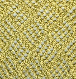 Checkerboard Mesh Lace pattern free instructions.