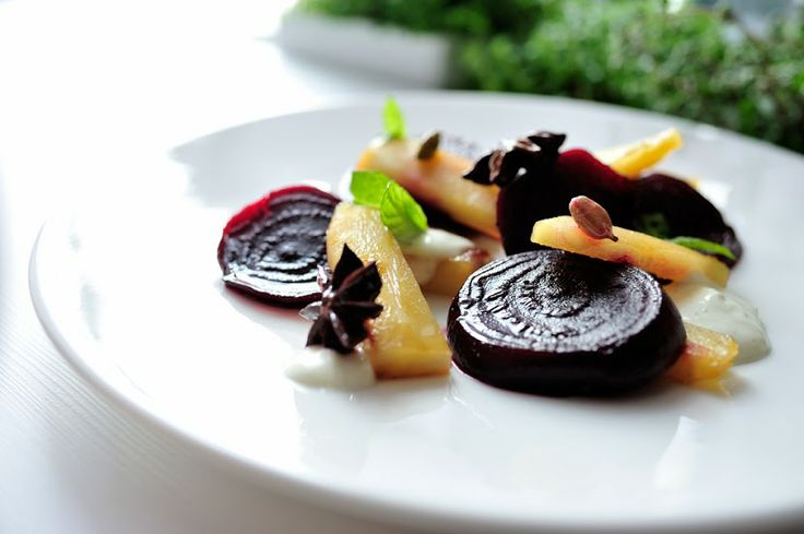karmelizowany burak i pasternak / caramelised beetroot and parsnips / Concordia taste