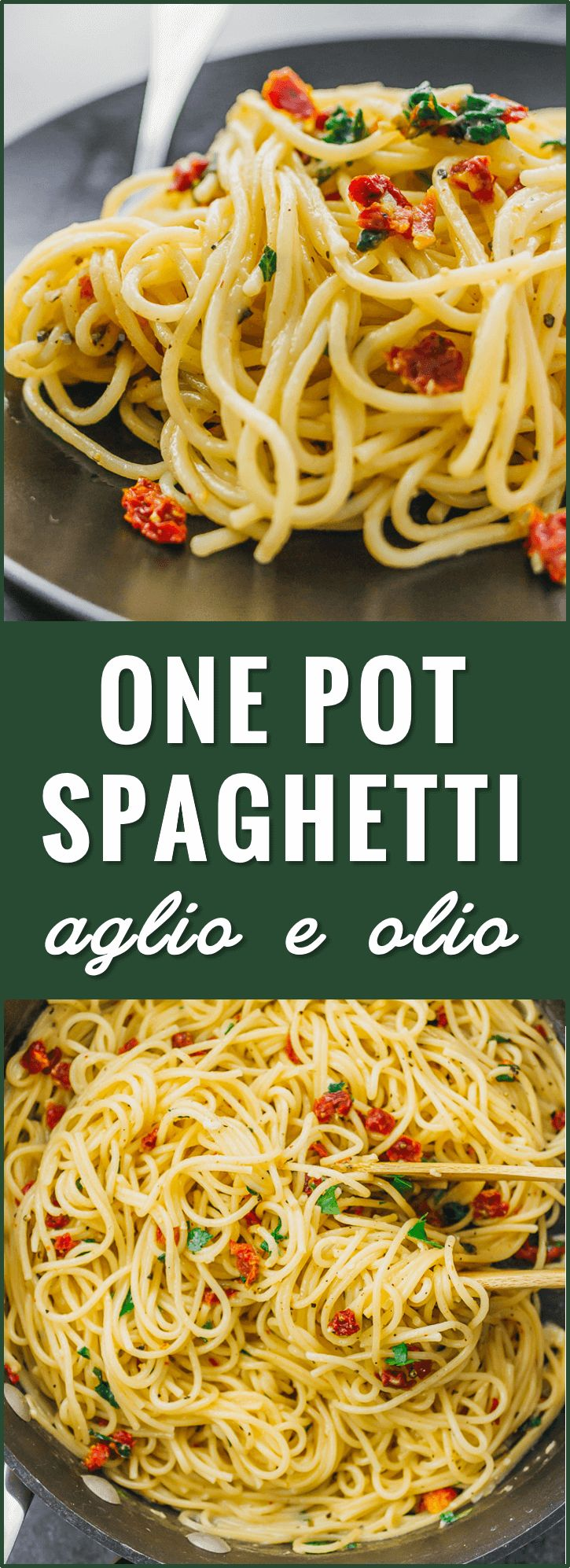 Spaghetti aglio e olio is one of my favorite simple, vegetarian pasta dishes: sp…