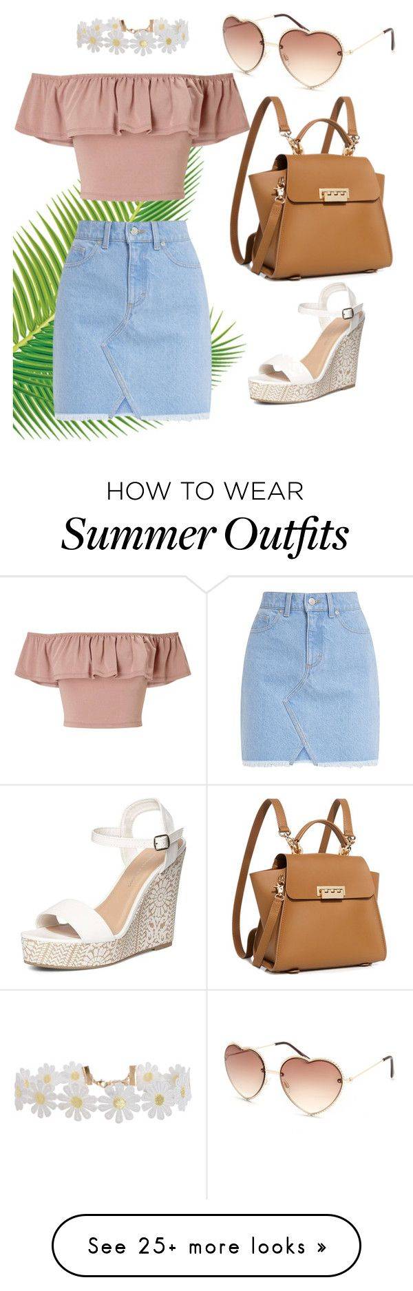 """Summer Boardwalk Outfit"" by have-fun-with-it on Polyvore featuring Full Tilt, Miss Selfridge, Humble Chic, ZAC Zac Posen and Dorothy Perkins"