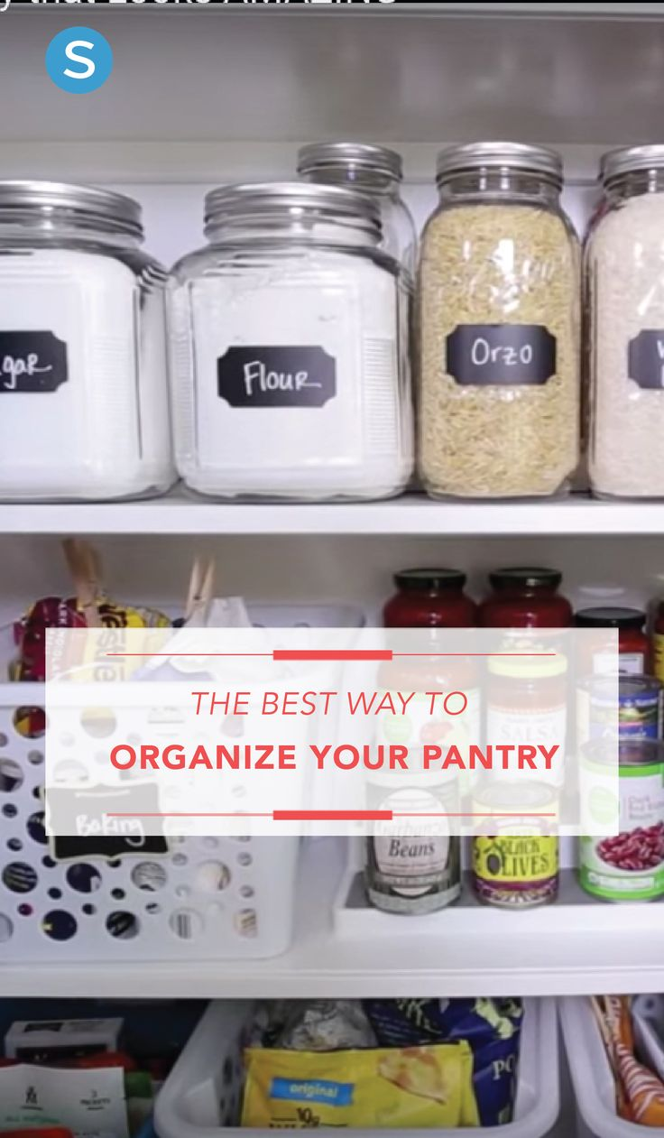 Hereu0027s The Best Way To Organize Your Kitchen Pantry