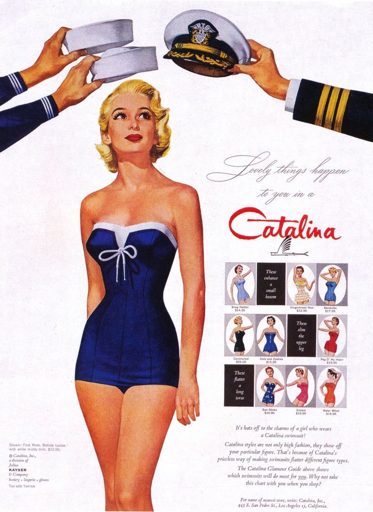 Vintage swimsuit ad