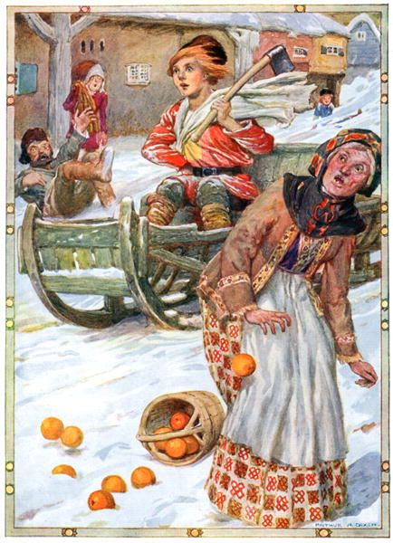 """Артур Диксон, иллюстрации к русским народным сказкам — """"По щучьему велению..."""""""