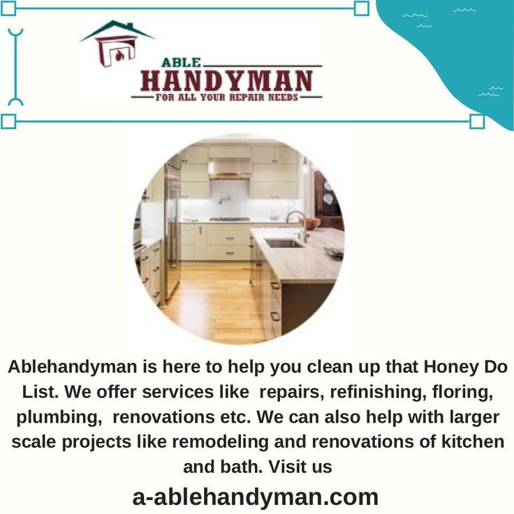 Simple Able handyman has been in business for over 25 years Our professional and reliable staff can give you back your weekend by taking care of your entire to d… In 2018 - Review florida handyman license Contemporary