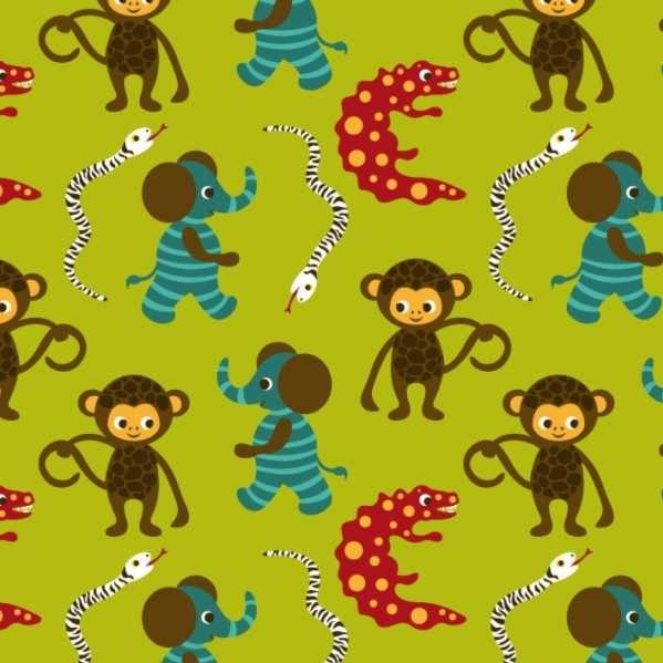 166 best stof images on pinterest fabrics ribbons and for Baby monkey fabric prints