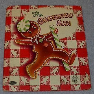 Children's Tell A Tale Book The Gingerbread Man 1953 ❤❦♪♫