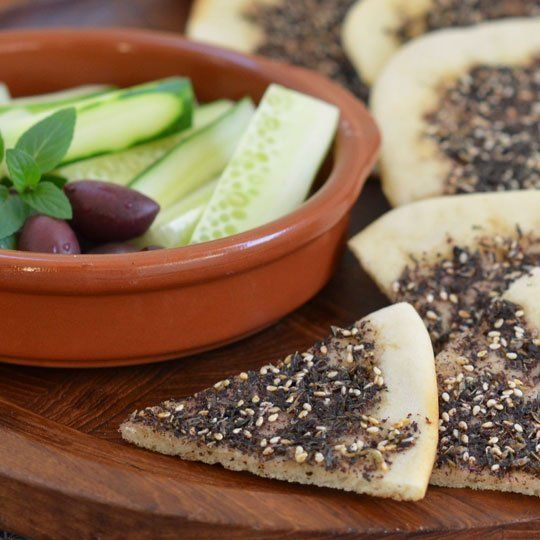 Flatbread Recipe: Manakish Zaatar Recipes from The Kitchn @Ahna Ziegler my neighbour made this for us and it was fantastic!