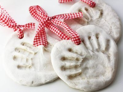 Salt dough handprint ornaments. I did these with the babies in Bible class last night, and they turned out surprisingly well. The actually look just like the ones in the picture (which never happens).