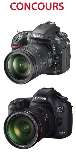 Gagnez une Canon 5d ou Nikon d800. Fin le 31 aout. http://rienquedugratuit.ca/concours/canon-5d-ou-nikon-d800/