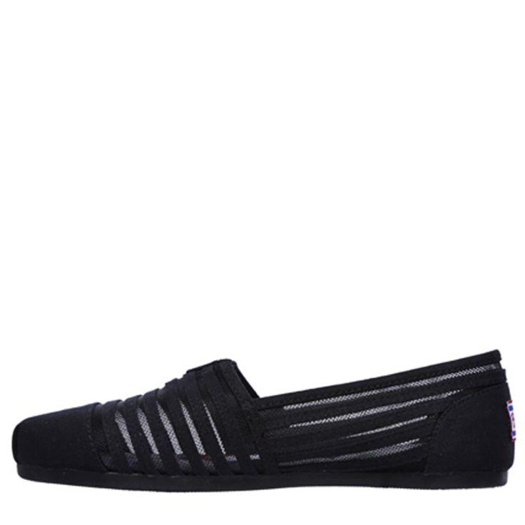 Skechers Women's Bobs Plush Adorbs Memory Foam Slip On Shoes (Black)
