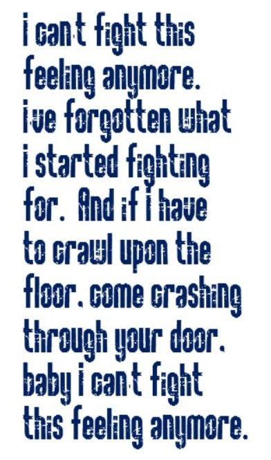 REO Speedwagon - I Can't Fight This Feeling Anymore - song lyrics, music lyrics, song quotes, music quotes, songs