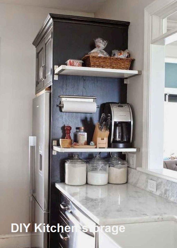 New Diy Kitchen Storage Ideas In 2020 Small Apartment Kitchen Kitchen Decor Apartment Diy Kitchen Storage