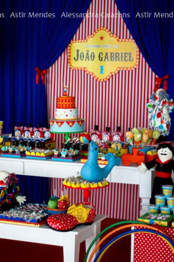 Circus Themed 1st Birthday Party 178 best